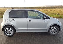 side view of the vw e-up
