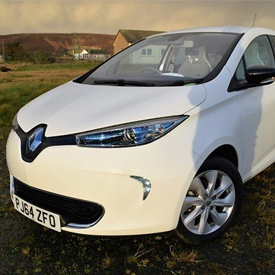 exterior of the renault zoe