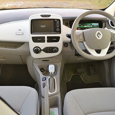 interior of the renault zoe
